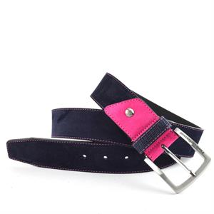 Floris Belts DarkBlue Suede