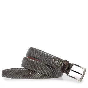 Floris van Bommel Floris Belts DarkBrown Print 75188/46