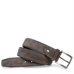Floris van Bommel Floris Belts DarkBrown PrintSuede 75202/68