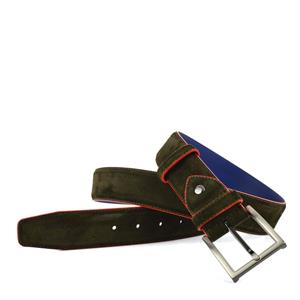 Floris van Bommel Floris Belts Green Suede 75037/16