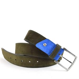 Floris van Bommel Floris Belts Green Suede 75192/02