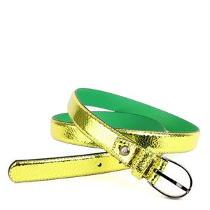 Floris van Bommel Floris Belts Yellow Metalic 75813/39