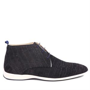Floris van Bommel Floris Casual Black SuedeCroco 20300/07