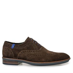 Floris van Bommel Floris Casual Brown Suede 19048/05