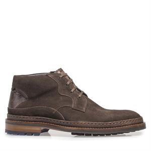 Floris van Bommel Floris Casual DarkBrown Suede 10509/03