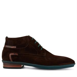 Floris van Bommel Floris Casual DarkBrown Suede 10878/01