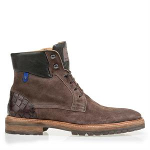 Floris van Bommel Floris Casual DarkBrown Suede 10971/02