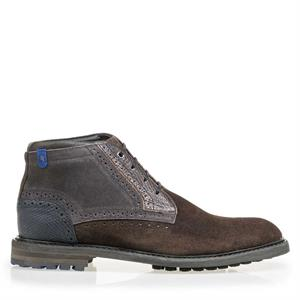 Floris van Bommel Floris Casual DarkBrown Suede 10978/06