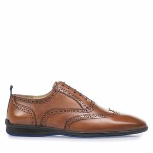 Floris van Bommel Floris Casual DarkCognac Calf 16360/07