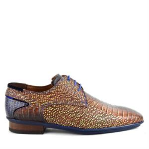 Floris van Bommel Floris Casual DarkCognac Croco 14284/09