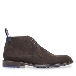Floris van Bommel Floris Dressed DarkBrown Suede 10203/17