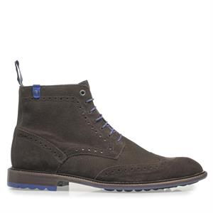 Floris van Bommel Floris Dressed DarkBrown Suede 10506/16