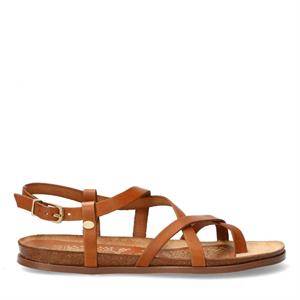 Fred de la Bretoniere FRS0654 SANDAL WITH CORK FOOTBED 2 CM NAT DYED SMO 170010102-3158