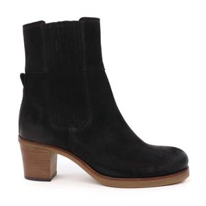 Shabbies SHS0741 ANKLE BOOT 5,7 CM WITH ZIPPER WAXED SUEDE 182020216-0001