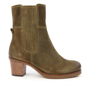 Shabbies SHS0741 ANKLE BOOT 5,7 CM WITH ZIPPER WAXED SUEDE 182020216-3404